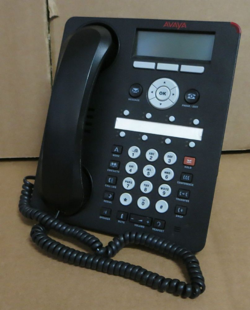 Avaya 1608-I-BLK 1608I One-X Deskphone Value Edition VoiP IP Telephone + Stand